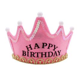 LED Light Happy Birthday Cappelli King Princess Hat Corona lampeggiante Baby Shower Birthday Caps Decorazione per feste di eventi Decorazione da