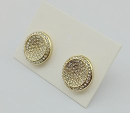 Wholesale United Number - New Studded M letter rose gold silver stud earrings fashion 3 color Europe and the United States diamond jewel stud earrings earrings