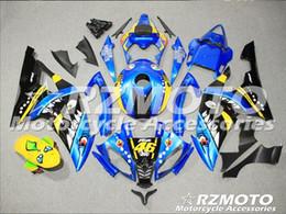 99 ninja zx7r Desconto Molde de injeção de Novas Carcaças Para Yamaha YZF-R6 YZF600 R6 08 15 R6 2008-2015 ABS Plástico Carroçaria Motocicleta Carenagem Kit Azul preto d1
