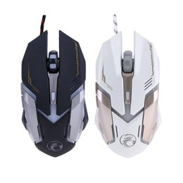 Wholesale Gaming Peripherals - ALLOYSEED Wired Gaming Mouse 6 Buttons Mouse Gamer USB LED Optical Computer Cable Peripherals V6 for Laptop Desktop