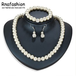 62208de85603 RNAFASHION Conjunto de Joyas de Perlas de Agua Dulce Natural Top Elegante  Regalo de Fiesta Conjunto de Perlas de Joyería de Moda Conjuntos barato  bisutería ...