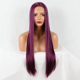 straight shoot Coupons - Lace Front Wigs shot bob hair wigs for women ombre purple mixed color straight heat resistant fiber synthetic lace front wig kabell wigs