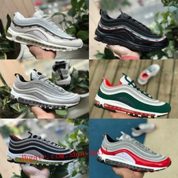 9b5c1fd197 Top Quality 2018 New 97 OG X Gold Silver Bullet Sport shoes Black White r  Mens 97s ultra sean wotherspoon Women Designer off air Sneakers