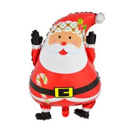 Nuevos años fuentes del partido online-45 x 63 cm Nuevo Santa Claus Foil Balloons Wedding Party Ornament Supplies Año Nuevo Regalos de Navidad Feliz Navidad Decoraciones envío gratis venta caliente