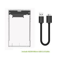 2019 caixa hd 2.5 2.5 polegada HDD Gabinete Cor Transparente USB 3.0 para SATA III UASP HD Box HDD Unidade de Disco Rígido Externo SSD Externo caixa hd 2.5 barato