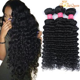 soft waves hair Promo Codes - 4 Bundles Brazilian Deep Wave Virgin Hair Unprocessed Brazilian Human Hair Extensions Mink Brazilain Virgin Hair Deep Wave Very Soft