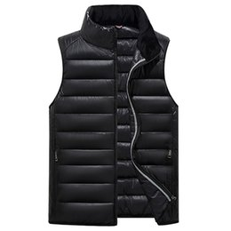 warmest clothes Promo Codes - Wholesale-2017 Winter Men Vest Waistcoat Thick Warm Cotton Male Vest Sleeveless Zipper Solid Casual Men Jacket Coat Parkas Clothes Gilet
