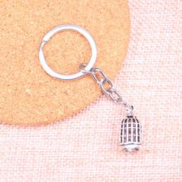 Keychain do pássaro do metal on-line-Nova Moda 22 * 11mm birdcage bird KeyChain, Nova Moda Handmade Metal Keychain Presente Do Partido
