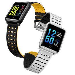 2019 podómetro medidor de pulso Smart Watch presión arterial hombres ritmo cardíaco reloj deportivo Pulse medidor podómetro pulsera IP68 reloj impermeable para mujeres podómetro medidor de pulso baratos