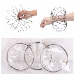 Wholesale Cool Toys For Big Kids - Toroflux Flow Rings 3D Kinetic Sensory Interactive Cool Toys For Kids Adults Funny magic ring Toy 400pcs KT002