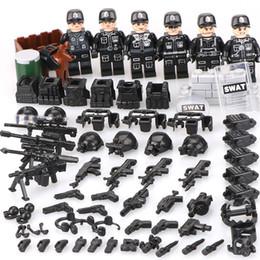 WW2 строительные блоки игрушки дети legoinglys военные 6PZ городской полиции SWAT команда армии солдат с воздушным оружием вертолет от Поставщики армейское военное оружие