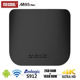 android tv box octa core 2gb Promo Codes - Original MECOOL M8S PLUS L TV Box Android 7.1 Amlogic S912 Octa Core 2GB 16GB 2.4G WiFi Set Top Box 4K Set-top Box