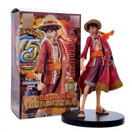Argentina 18cm Japanese Anime Cartoon One Piece New World Luffy Sir Figuras de acción PVC Toys Doll Model Collection supplier new world dolls Suministro