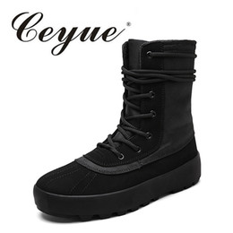 Wholesale vintage high top shoes - Ceyue 2017 New Arrival Winter Men Boots Lace-Up High Top Shoes For Men Motorcycle Boots Outdoor Handmade Vintage Combat