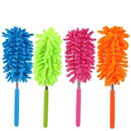Outils de plombier en Ligne-4 couleurs évolutive microfibre télescopique Dusters Chenille nettoyage de la poussière de bureau ménage épousseter brosse voitures outil de nettoyage