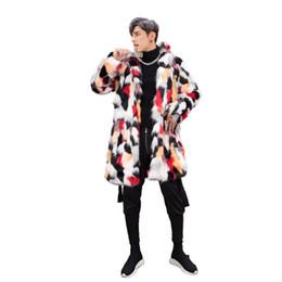 Wholesale Imitation Fur Jackets - Wholesale-S-3XL Plus Size Fall Winter Men Multicolor Faux Fur Coat Men's Imitation Fur Coats Thermal Outerwear Man Jacket