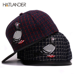 820e23acf81 HATLANDER Brand 3D Pigeon hip hop baseball caps for men women outdoor sport  hats gorras adjustable casual flat brim snapback cap