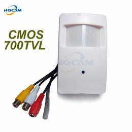 Wholesale Pir Cctv - HQCAM 700TVL CCTV security Camera CMOS Color 960H Motion Detector Indoor CCTV Mini PIR Style Surveillance Camera microphone
