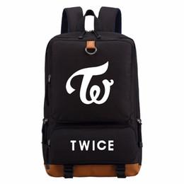 Wholesale kpop bags - WISHOT twice kpop Star portfolio backpack casual backpack teenagers Men women's School Bags travel Shoulder Bag Laptop Bags