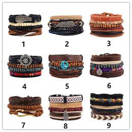 Wholesale Leather Letter Bracelets - Bracelets & Bangles mens leather bracelets 2018 Pulseira Masculina Jewelry Charm Bileklik Pulseiras Boyfriend Girlfriend