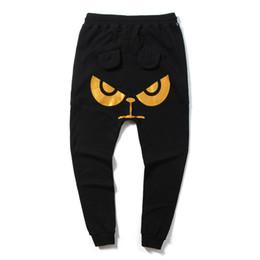 Nuevos tipos de pantalones de hombre online-streetwear pantalones de impresión de los hombres negros moda al aire libre turismo de ocio movimiento de tipo suelto pequeños pies pantalones el nuevo estilo