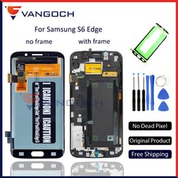 2019 lcd samsung e5 Originale Super Amoled Screen per Samsung Galaxy S6 Edge G925F LCD Assembly sostituzione Touch Screen Digitizer regalo gratuito