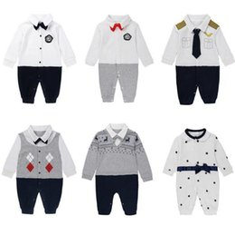 81a97c57ac1b Baby Rompers Toddler Gentleman Formal Party Baby Boys Romper Wedding Tuxedo  Suit Jumpsuit Children Boy Clothing