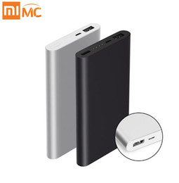 Wholesale Original Mobile Phone Batteries - Original 10000mAh Xiaomi Power Bank PowerBank 2 Quick Charge External Battery Supports 18W Fast Charging For Android IOS Mobile Phones