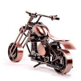 Schwarze trompeten online-Eisen Kunst Trompete Motorrad Heimtextilien Handgemachten Schmuck Motorrad Büro Kunst Ornament Handwerk Dekoration 10 5lc gg