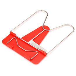 Suportes para livros dobráveis on-line-Nova marca 5 PCS Cor Vermelha Dobrável Portátil Quadro Ajustável Leitura Resto Livro Titular Estande Bookrest