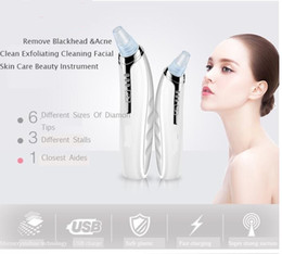 Wholesale Black Spots Remover - Portable 6 heads Electric Blackhead Removal Suction Facial Pore Cleaner Acne Remover Tool Kit Face Skin Care Black Spot Beauty Machine