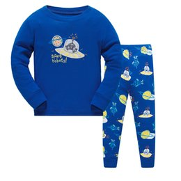 Wholesale Boys Pyjamas Cartoon - 2017 New Fashion Design Kids Pajamas Children Sleepwear Baby Pajamas Sets Boys Girls Cartoon Pyjamas Pijamas Cotton Nightwear