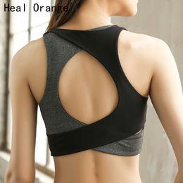 ceb1f4b475 HEAL ORANGE Women Sport Bra Brassiere Sport Top Fitness Push Up Gym Bra  Workout Active Wear Sports Wear For Women Gym