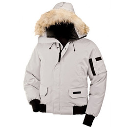Chaqueta libre del envío de dhl online-DHL envío gratis Mens Bomber Parka Jassen Camuflaje prendas de vestir exteriores de piel grande con capucha Fourrure Manteau Goose Down Jacket Coat