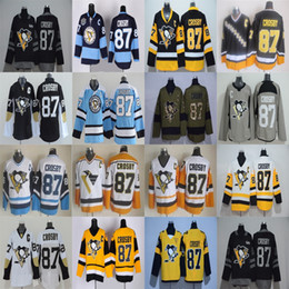 Wholesale Mens C - 2017 Stanley Cup Final Champion Patch Mens Pittsburgh Penguins 87 Sidney Crosby with C Patch Home Away Third Wholesale Ice Hockey Jerseys