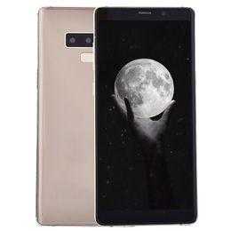 Примечания для гуафона онлайн-Идентификатор лица Goophone Note9 Note 9 V2 1 ГБ 16 ГБ + 32 ГБ Отпечаток пальца Android 7.0 6,3-дюймовый полноэкранный GPS-шоу Octa Core 4G LTE 13MP Камера Смартфон