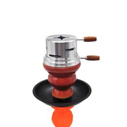 titolari di argilla Sconti Originale Shisha Narghilè Alluminio Carbonio Holder Narguile Heat Keeper Sistema di gestione del calore Dispositivo Chicha Clay