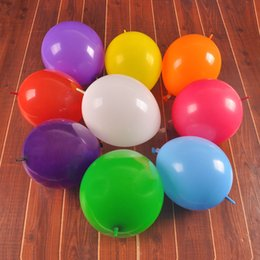 Wholesale Tail Balloons - 100pcs lot Latex Balloons With Tail 12inch 3.2g Thick Balls Mixed Colors For Wedding Party Event Decorations