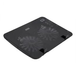 """Soportes para portátiles online-Universal 12 """"-16"""" Notebook Notebook Cooler Pad Base de velocidad ajustable USB 2 ventiladores con soporte Soporte Envío gratuito"""