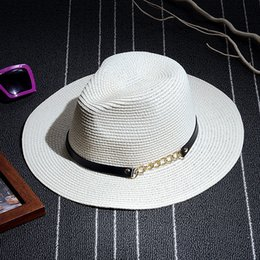 98979acb966 Fashion 2017 New Summer Women s Foldable Wide Large Brim Elegant Belt Beach Sun  Hat Straw Beach Cap For Ladies Girls