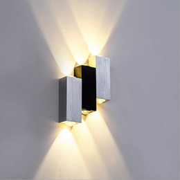Wholesale Beauty Wall Lights - 6W AC85-265V Wall-Mounted Lamp with Aluminum Three Lighting Fixture Sconce Modern Wall Lamp Indoor Beauty Wall light for House