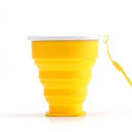 2018 Nueva Copa Plegable de Silicona de Silicona Taza de Bebida Plegable Retráctil Taza de Agua Portátil de Viaje Multifunción Al Aire Libre 200 ML con Bolsa de OPP desde fabricantes