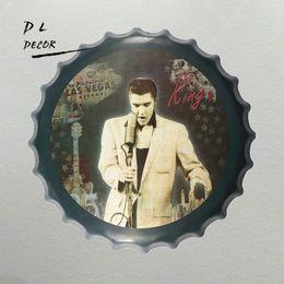 Elvis metall online-Der König Metal AD Signs Elvis Metall Poster Malerei Bierflasche Cap Vintage Decor Bar Zeichen