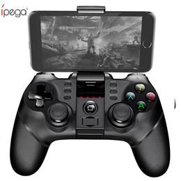 2019 jeux de winnipeg iPega PG Gamepad sans fil Bluetooth contrôleur de jeu Gamepad poignée avec TURBO joystick pour Android / iOS Tablet PC téléphone portable TV Box jeux de winnipeg pas cher