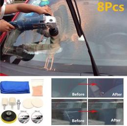 Kit scratch online-Auto Car Glass Kit de pulido Parabrisas Windows Scratch Remover 8 piezas Herramienta de reparación