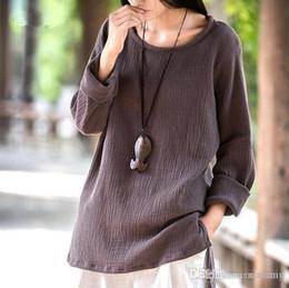 4e236c7b612 Wholesale-2016 Women Casual Cotton Linen shirts Tops