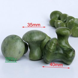 Tipi di funghi online-Nuovo tipo! Fungo di massaggio naturale con glassa di giada per gli occhi del viso Kit di bellezza 10 pezzi / lotto