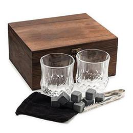 2019 conjunto de rocas de whisky 2 Vasos de Whisky Grandes y 8 Set de Regalo de Piedras de Whisky Premium Granito Scotch Chilling Rocks rebajas conjunto de rocas de whisky