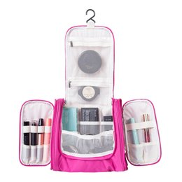 Wholesale Hanging Makeup Case - Hanging Travel Cosmetic Bags Functional Makeup Pouch Toiletry Wash Storage Case Organizer Necessary Accessories Supplies