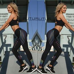 2019 polainas deportivas para mujeres 2018 Fitbody noctilucent Pantalones de Yoga Mujeres Fitness Sexy Hips Push Up Leggings Mesh Sport Running Pantalones apretados Mujeres Fitness Slim Gym Leggings polainas deportivas para mujeres baratos